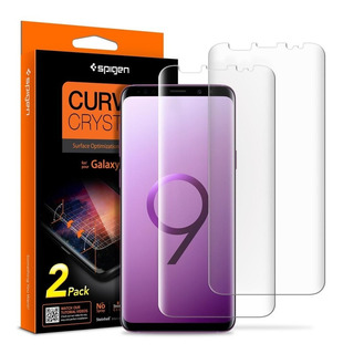 Galaxy S9 Plus Protetor De Tela Curvado Cristal Hd Spigen