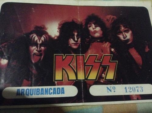 Ingresso Show Do Kiss 1985( Maracanã)