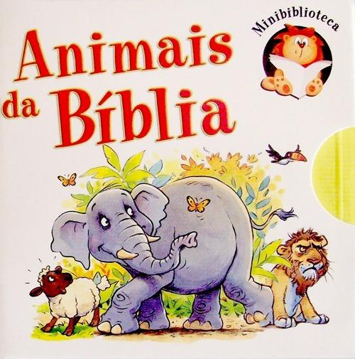 Livros-animais Da Bíblia-box 6 Livros-ilustrados-raro+brinde