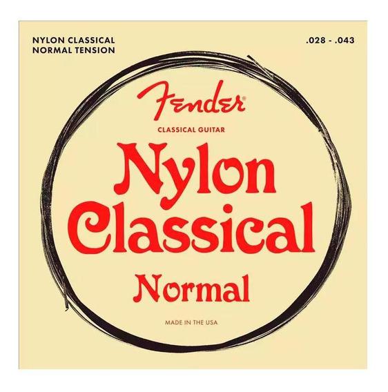Encordoamento Fender Para Violão Nylon .028 100 Clear