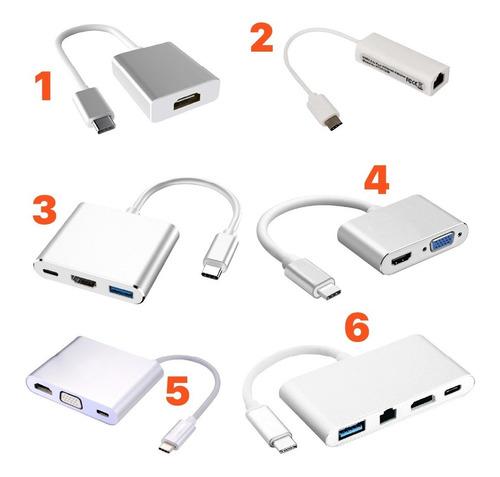Adaptador Tipo C Usb C  Hdmi Vga Usb 3.0 Ethernet Macbook