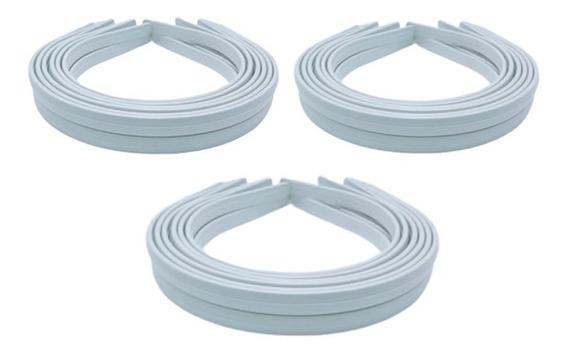 120 Tiara Arco Plástico Branca Encapar Montagem 10mm-atacado