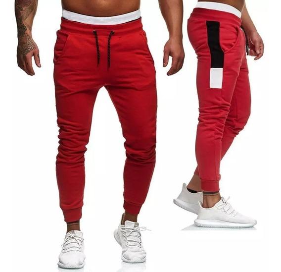 Pantalones Combinados Hombre Friza Invierno Jogging Babucha