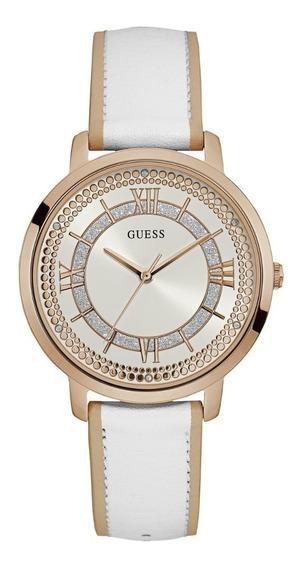 Relógio Feminino Guess Branco Couro 92635lpgdrc4 Original Nf