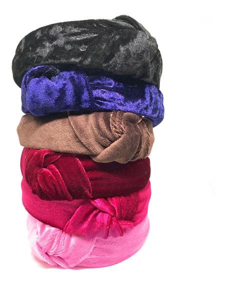 Tiara Turbante Nó Tecido Veludo Thassia Blogueira Moda Inst