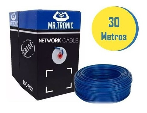 Cable De Red Por 30 Mts Utp Cat5 Nivel 5e Internet Cat5e 5