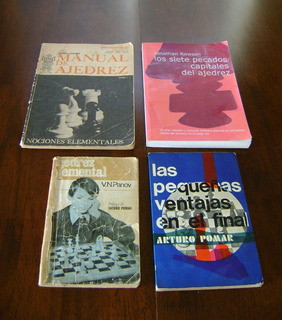 Libros De Ajedrez / Canobra - Rowson - Panov - Pomar