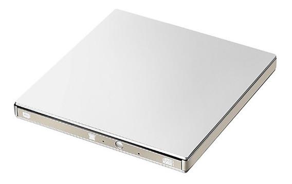 Gravador Cd E Dvd Externo Usb 2.0 Prata