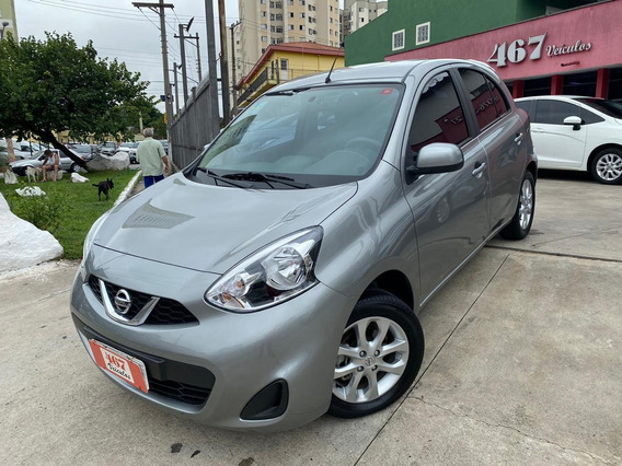 Nissan March Sv 1.0 2019 Cinza