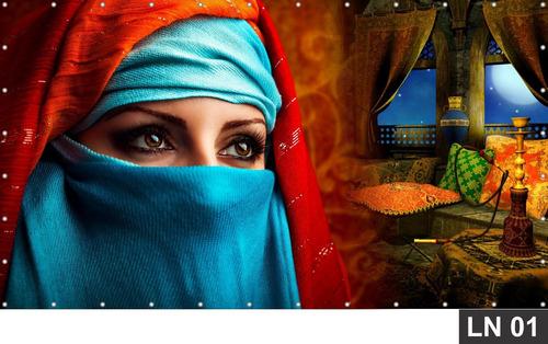 Imagem 1 de 6 de Painel De Festa Aniversário Arabia Árabe 4,00x1,80m Lona