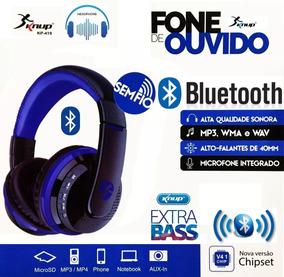 Fone De Ouvido Knup Bluetooth Cell Note Extra Bass Kp-419