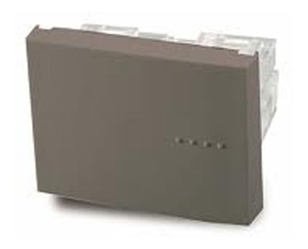 Imagen 1 de 1 de Módulo Pulsador, Tecla Doble, Bauhaus - Gris