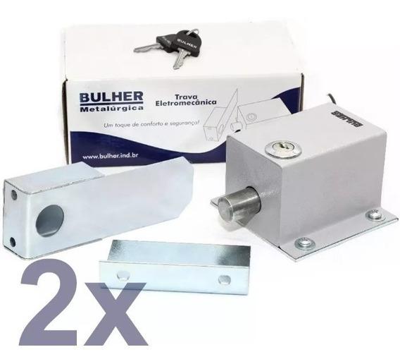 2 Trava Elétrica Para Portão Automático Bulher 110v Ou 220v