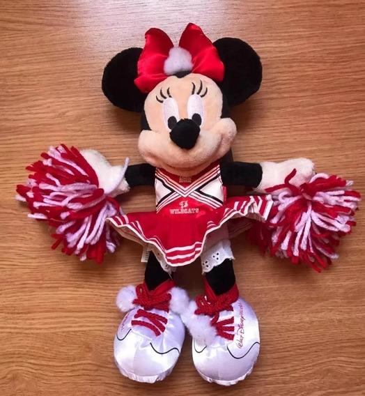 Pelúcia Minnie 30 Cm Líder Torcida Wildcats Oficial Disney