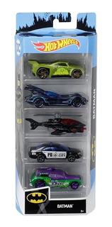 Hot Wheels Set 5 Autitos De Batman Original