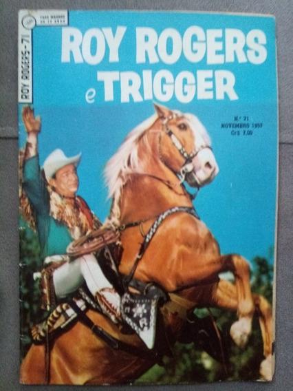 Roy Rogers E Trigger N.°71 Nov. 1957 Ebal Original Raríssimo