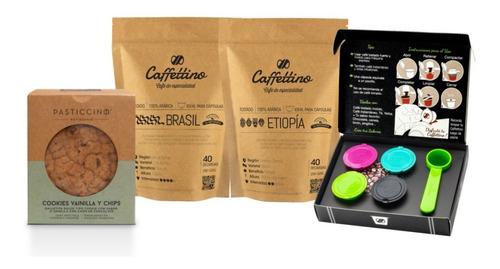 Imagen 1 de 1 de Kit Tentación África Nespresso Con Cookies