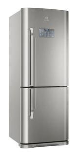 Geladeira frost free Electrolux DB53 aço inoxidável com freezer 454L 110V