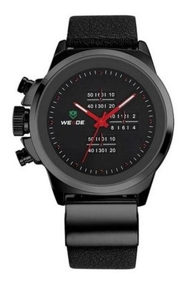 Relógio Masculino Analógico Weide Wh-3305 Casual Preto