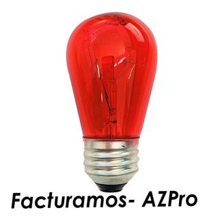 Foco S14 Lampara Incandescente 10w 125v E27 Roja 81602 Osram
