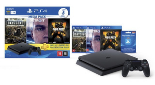 Playstation 4 Slim Sony 1tb Ps4 Bivolt 3 Jogos Inclusos Novo