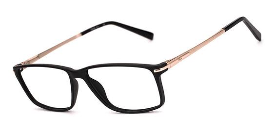 Armação Oculos Ogrife Og 1752-c Masculino Com Lente Sem Grau