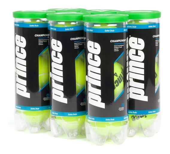 Bola De Tênis Prince Championship Pack Com 6 Tubos