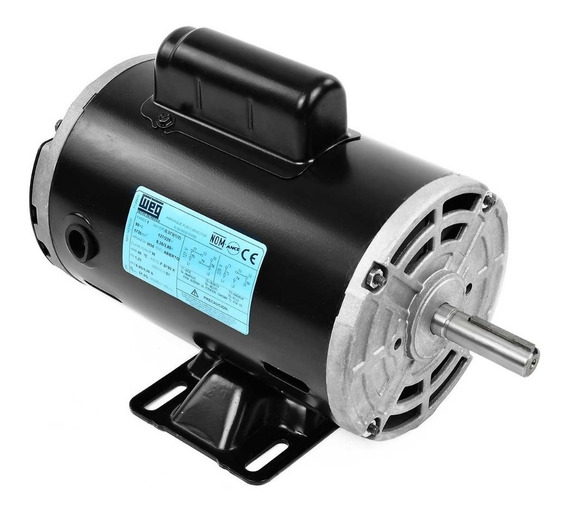 Motor Eléctrico Monofásico 0.50 Hp Weg 14318233 1735 Rpm
