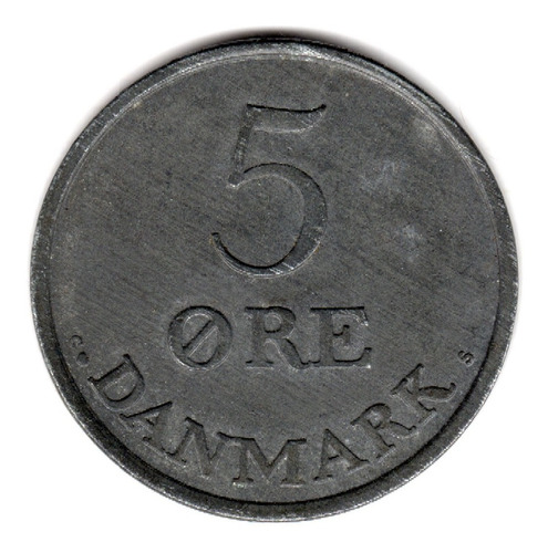 Bkz / Dinamarca: 5 Ore 1960 - Km# 843.2 Zinc