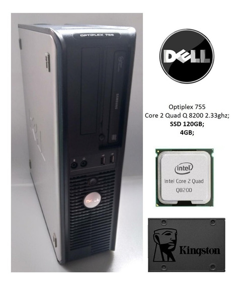 Dell Optiplex 755 Quad Core 4gb Ssd 120gb