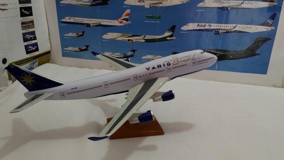 Maquete De Aviao Em Resina B 747 Varig