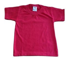 Kit Com 3 Camiseta Bebê Infantil Básica Lisa Manga Curta