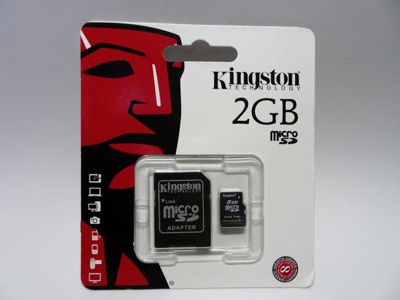 Cartão De Memoria Micro Sd 2gb Kingston Com Adptador