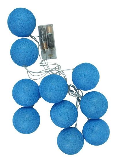 Cordão Luminoso Bolas Azuis