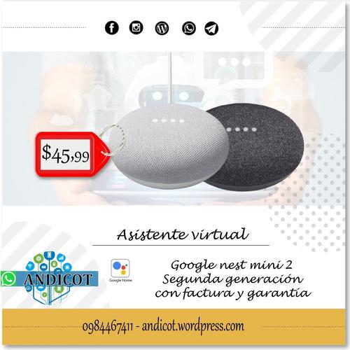 Google Nest Mini 2 Segunda Generación Con Factura Y Garantía