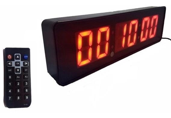 Cronometro Relogio Parede Digital Led Para Academia 32cm