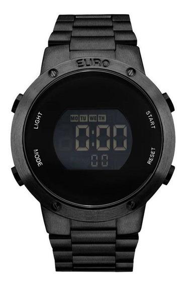 Relógio Euro Feminino Eubj3279ab/4p Preto Promoção