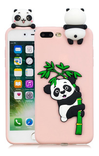 Panda Bamboo Celular Voltar Shell Rosa 8 Plus