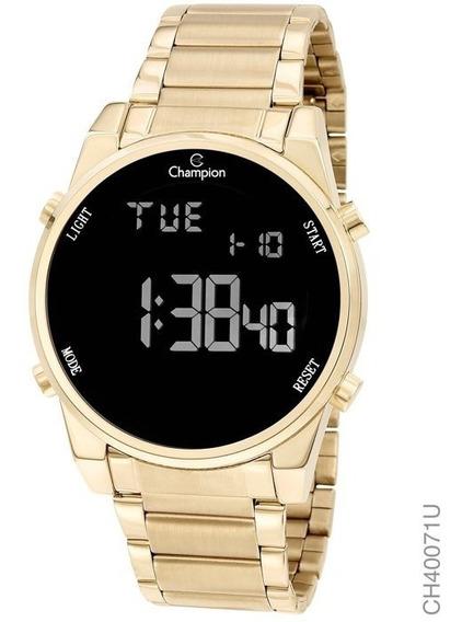 Relógio Feminino Dourado Digital A Prova D, Água Grande 18k