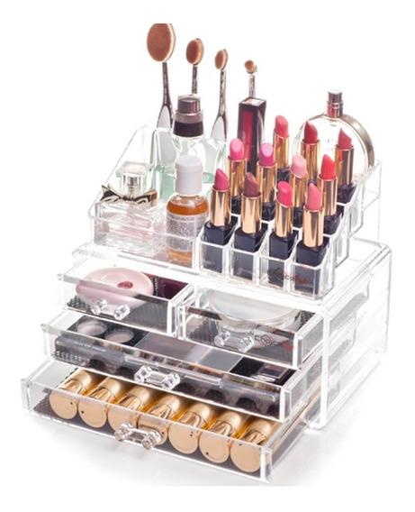 Caixa Acrílico Organizador 4 Gaveta Maquiagem/joias/esmalte