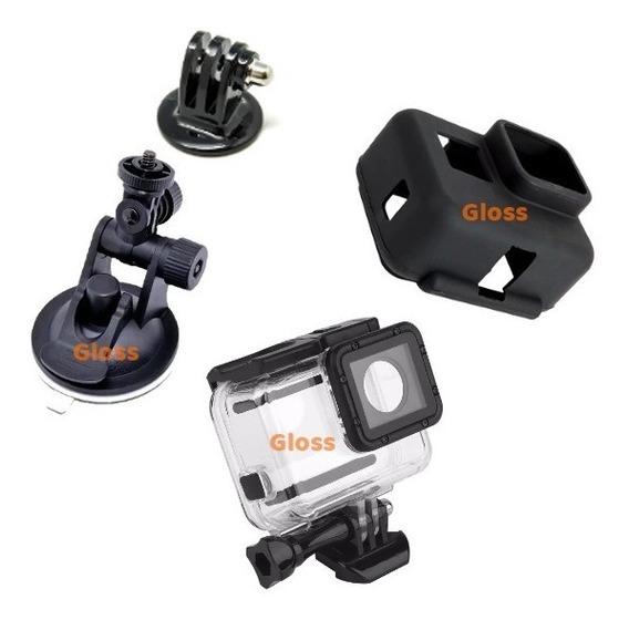 Gopro Estanque Caixa Go Pro Case Hero 5 E 6 Black Silicone