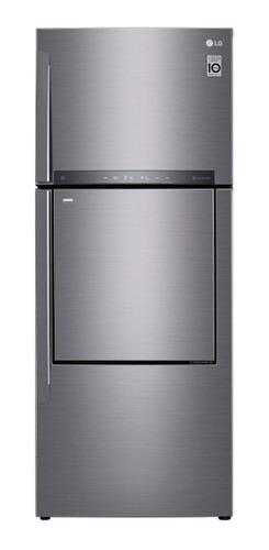Imagen 1 de 6 de Heladera inverter no frost LG GC-A502HLHU silver con freezer 441L 220V