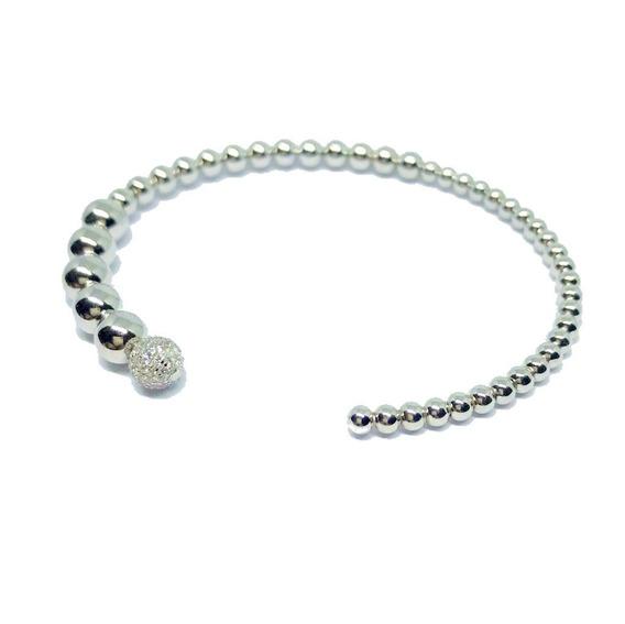 Bracelete Prata 925 Bolinhas