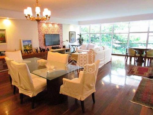 Apartamento Com 3 Dormitórios À Venda, 210 M² Por R$ 1.680.000,00 - Copacabana - Rio De Janeiro/rj - Ap3664