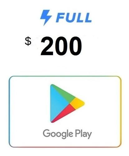 Imagen 1 de 2 de Tarjeta De Regalo Google Play De 200 Pesos