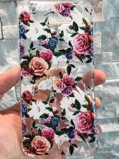 Capa Capinha Anti Impacto Samsung J5 Rosas Coloridas.