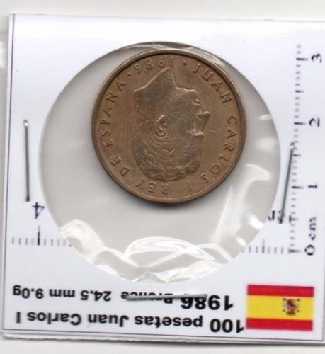 Imagen 1 de 3 de Moneda España 100 Pesetas Jan Carlos  I  1986    E68