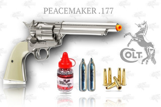 Marcadora Airsoft Co2 Colt Peacemaker 4.5 Bbs Metal Xtreme P