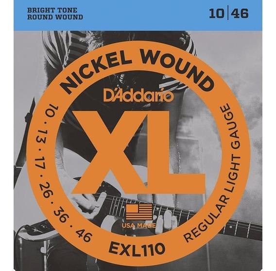Encordoamento Para Guitarra Cordas 010 Daddario Exl110