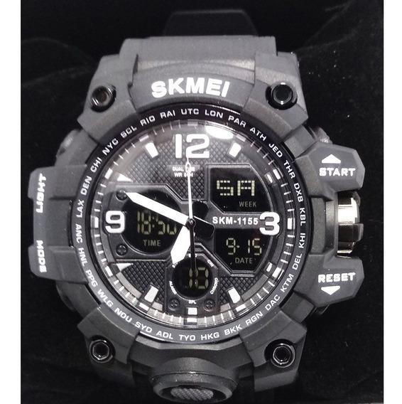Relógio Skmei 1155b Resistente A Água 50m Preto Original